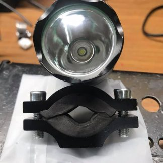 a stand alone light or to hook into the battery of your hunting light, just plug in and shoot then unplug